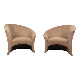 Pair Vintage Modern Thayer Coggin Lounge Chairs