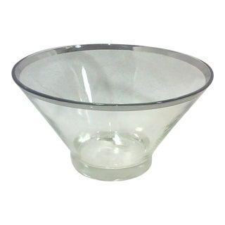 Dorothy Thorpe Silver Rim Serving Bowl