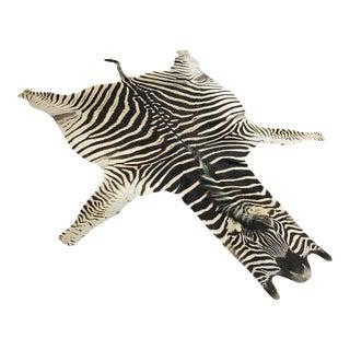 Zebra Hide Rug - 5′9″ × 7′4″
