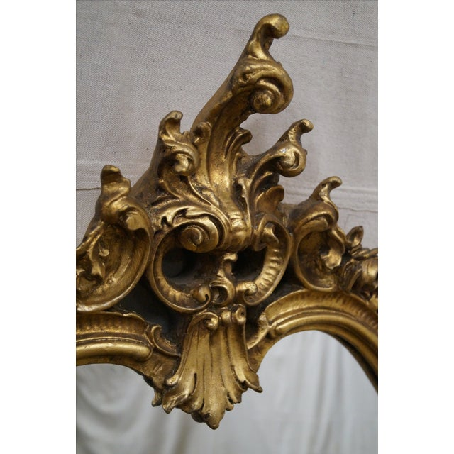 French Louis XV Carved Gilt Console Wall Mirror - Image 9 of 10