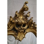 Image of French Louis XV Carved Gilt Console Wall Mirror