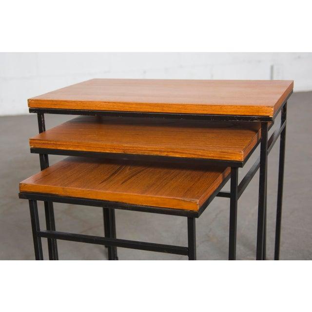 Teak Nesting Side Tables - Set of 3 - Image 4 of 9