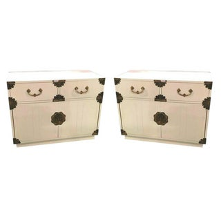 Mid-Century Lacquered Campaign Chests - Pair