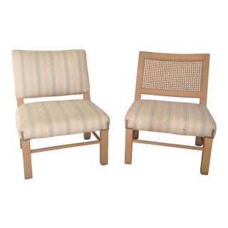 Petite His and Hers Slipper Chairs - A Pair