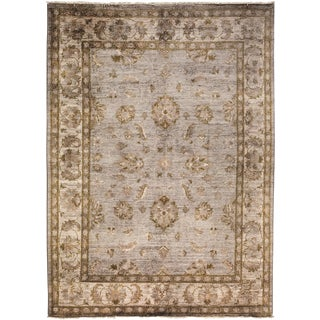 "Over-Dyed Hand Knotted Area Rug - 4'10"" X 6'6"""