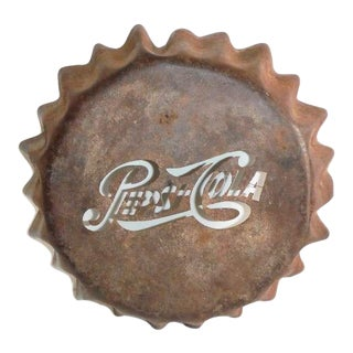 Monumental Cast Iron Pepsi-Cola Trade Sign