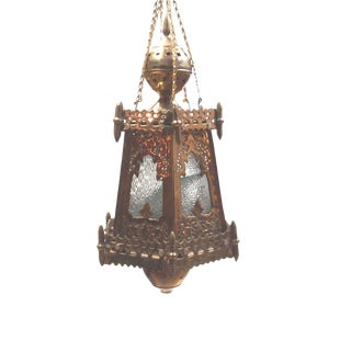 Solid Brass Hanging Decorative Moroccan Lantern