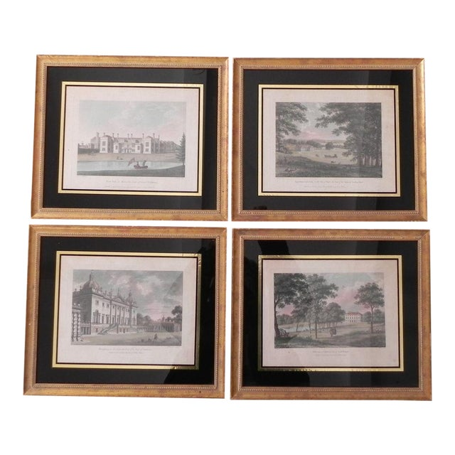 Antique English Architectural Engravings - Set of 4 - Image 1 of 8