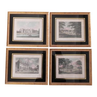 Antique English Architectural Engravings - Set of 4