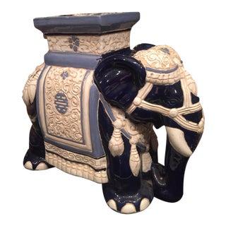 Vintage Hollywood Regency Porcelain Elephant Garden Seat