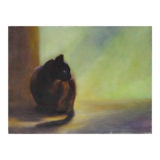 """Siamese Cat"" Oil on Canvas"
