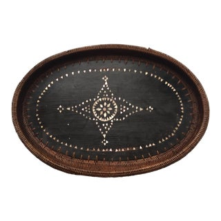 Wood & Ata Grass Weave Balinese Tray