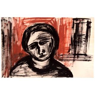 Ink Portrait in Black & Brown by Jean Margolin
