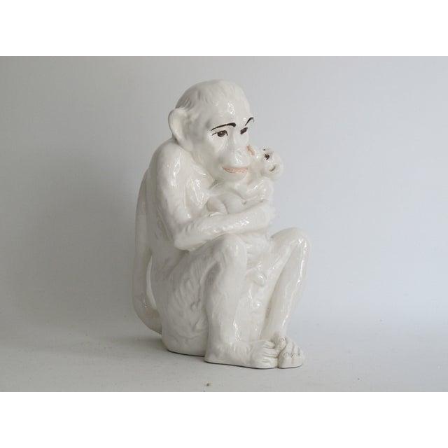 Italian Ceramic Monkey with Baby - Image 3 of 8