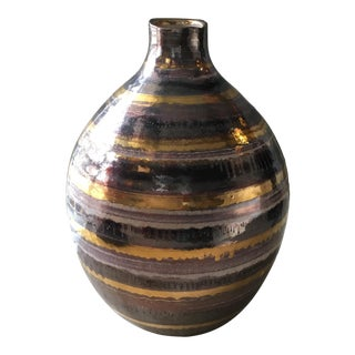 Metallic Pottery Vase