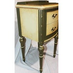 Image of Vintage 1920s Mahogany Painted End Table