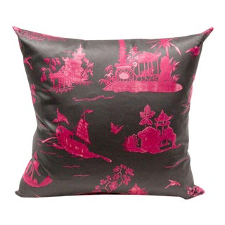 French Pink Toile Pillow