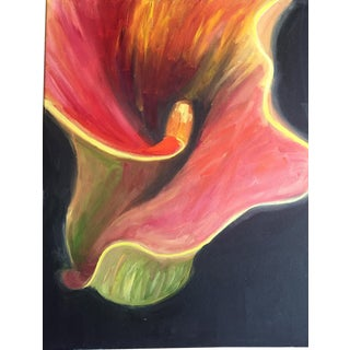 'Flower In Mid Air' Acrylic Painting