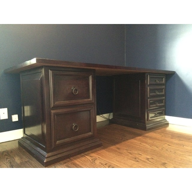 Pampa Furniture Traditional Dark Wood Desk - Image 2 of 5