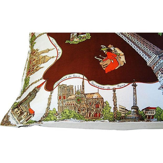 Souvenir de Paris Silk Scarf Pillow - Image 5 of 8