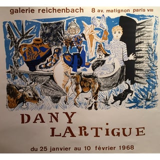 Vintage French Exhibition Poster, Lartigue 1968
