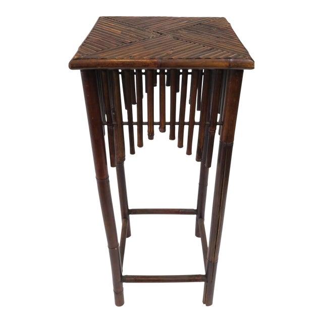 Dark Brown Bamboo Pedestal - Image 1 of 7
