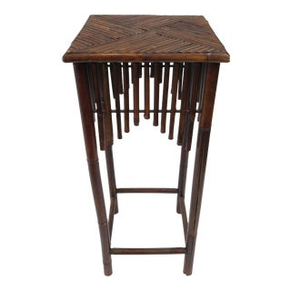 Dark Brown Bamboo Pedestal