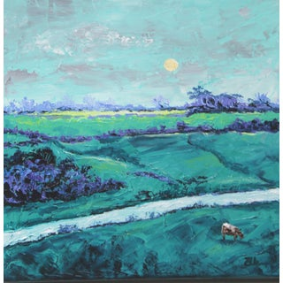 Morning in the Pasture Landscape Painting