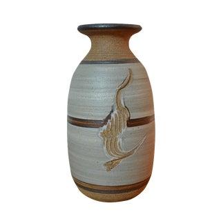 1989 Stoneware Pottery Vase
