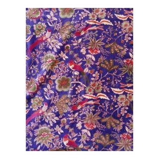 Purple Cotton Velvet Chinoiseri Fabeic 3yds