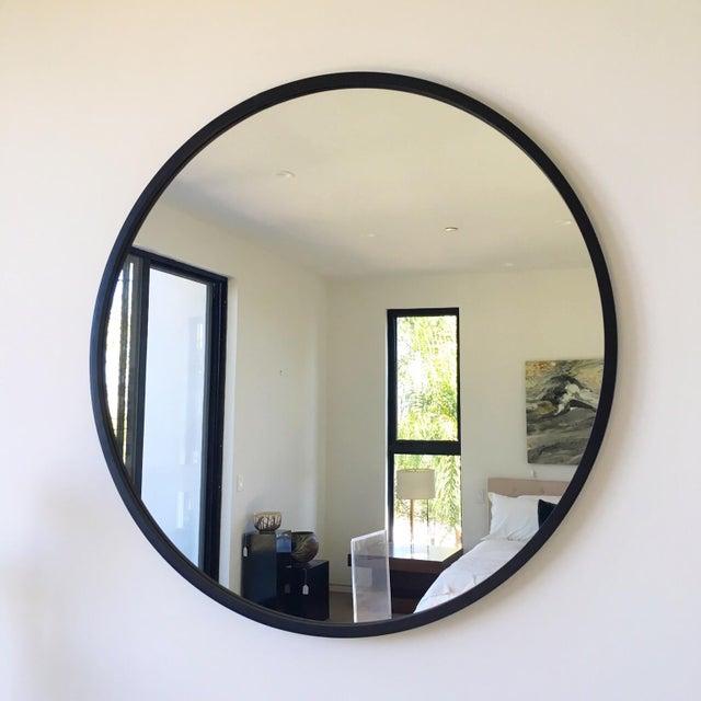 Image of Black Round Contemporary Mirror