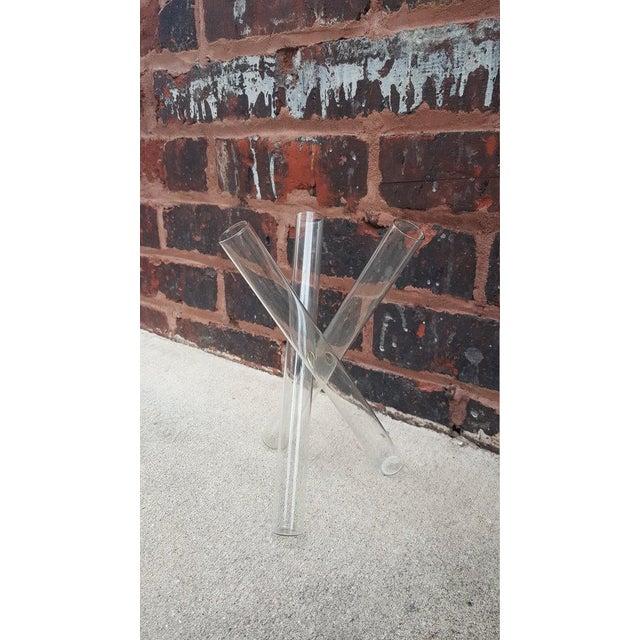 Mid-Century Geometric Tripod Glass Vase - Image 2 of 3