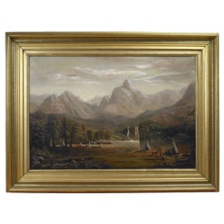 View of the Rocky Mountains at Lander's Peak Painting