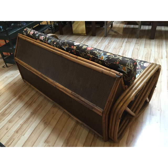 vintage bamboo rattan sofa bed chairish. Black Bedroom Furniture Sets. Home Design Ideas