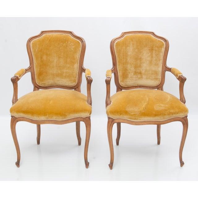 Image of Antique Louis XV Style Fauteuils - Pair