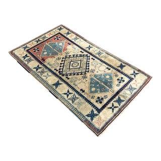 """Vintage Anatolian Area Rug -- 3'8"""" x 5'11"""""""