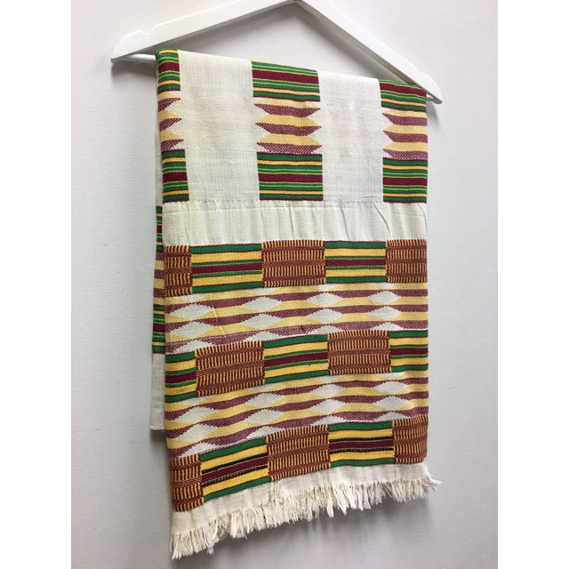 "African Tribal Vintage Textile Throw - 41"" x 79"" - Image 5 of 11"