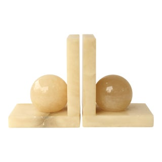 Stone Orb Bookends - A Pair