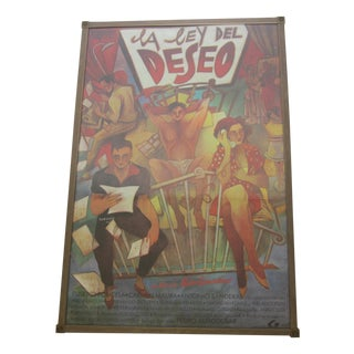 "1987 ""La Ley Del Deseo"" Framed Movie Poster"