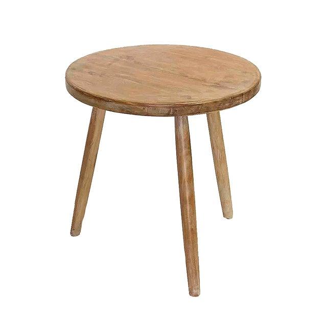 Round Teak Cricket Table - Image 1 of 3