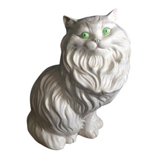 White Ceramic Cat