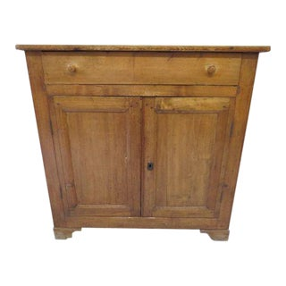 1920s Antique French Rustic Cabinet
