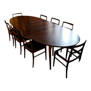 Sibast Mobler Mid-Century Rosewood Dining Set for 8 by Arne Vodder