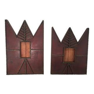 Tramp Art Frames - A Pair