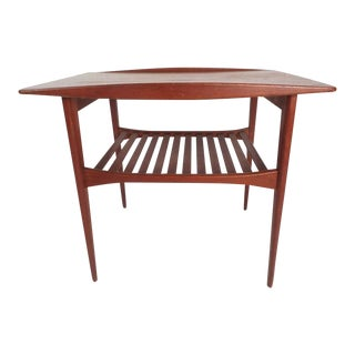 Mid-Century Modern Danish Teak End Table by Edvard and Tova Kindt-Larsen