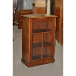 Image of 1920s Vintage Mahogany Glass Front Cabinet