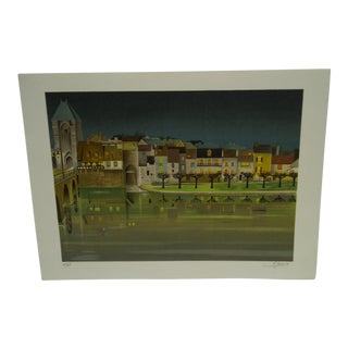 "Le Coindre ""Park by the Canal"" Print"