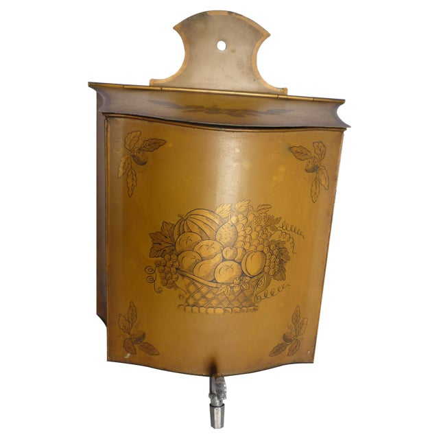 Vintage French Tole Painted Lavabo - Image 1 of 6