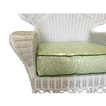 Image of Ficks Reed Vintage White Wicker Armchairs - Pair