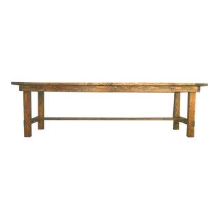 Collapsible Dark Walnut Farmhouse Table